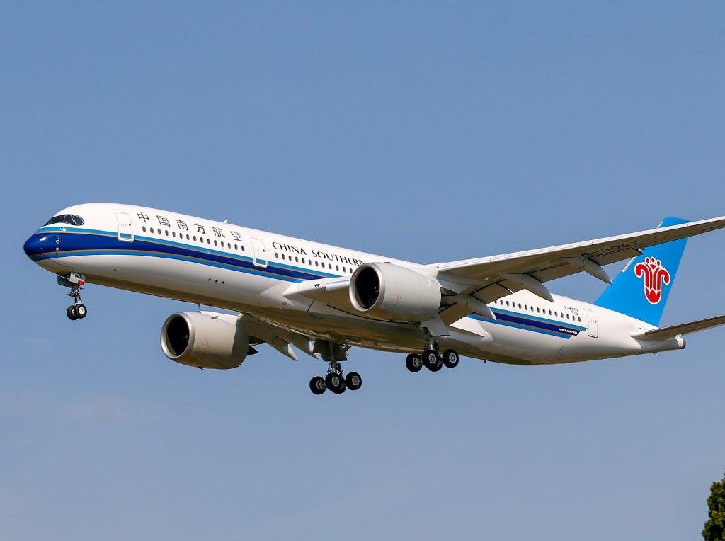 Noticias de aerolíneas. Noticias de aeropuertos. Airbus A350 de China Southern