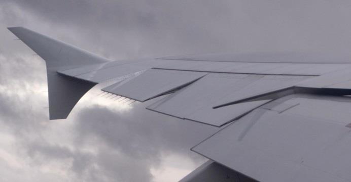 Noticias de aviones. Noticias de aerolíneas. Punta de ala de un Airbus A380