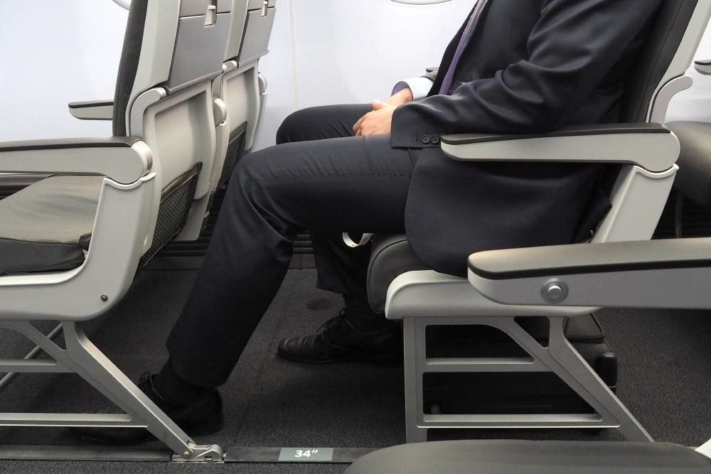 Noticias de aerolíneas. Noticias de aviones. Separación entre asientos de cabina, o Pitch
