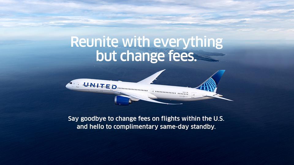 Noticias de aerolíneas. United elimina las tasas por cambios en las reservas
