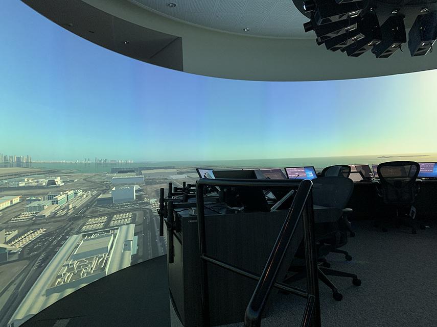 Noticias de aeropuertos. Noticias de controladores. Simulador en aeropuerto de Hamad, Qatar.