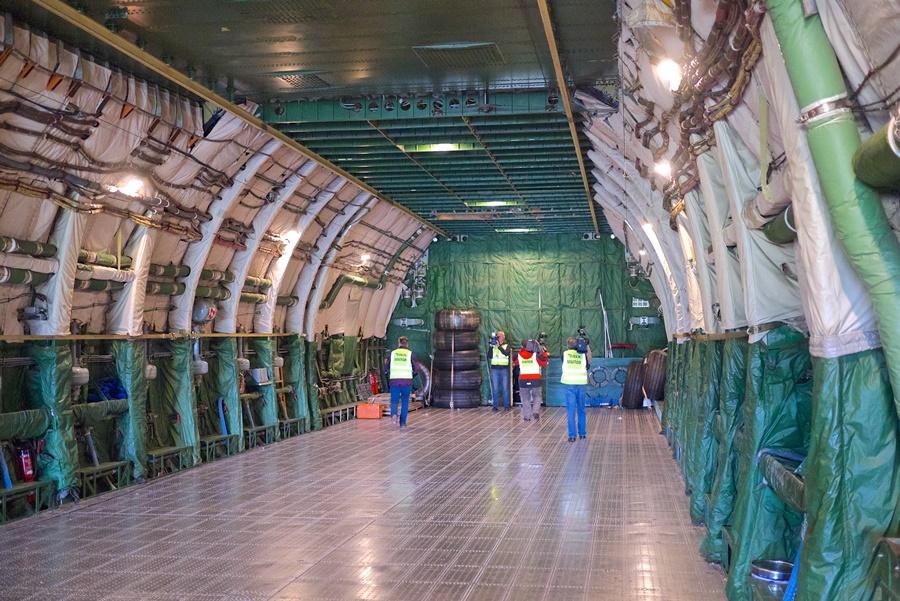 Noticias de aerolíneas. Noticias de aviones. Interior de un Antonov An-225