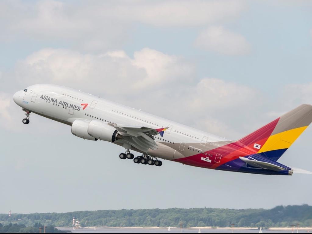 Noticias de aerolíneas. Noticias de aviones. Noticias de turismo. Airbus A380 de Asiana Airlines