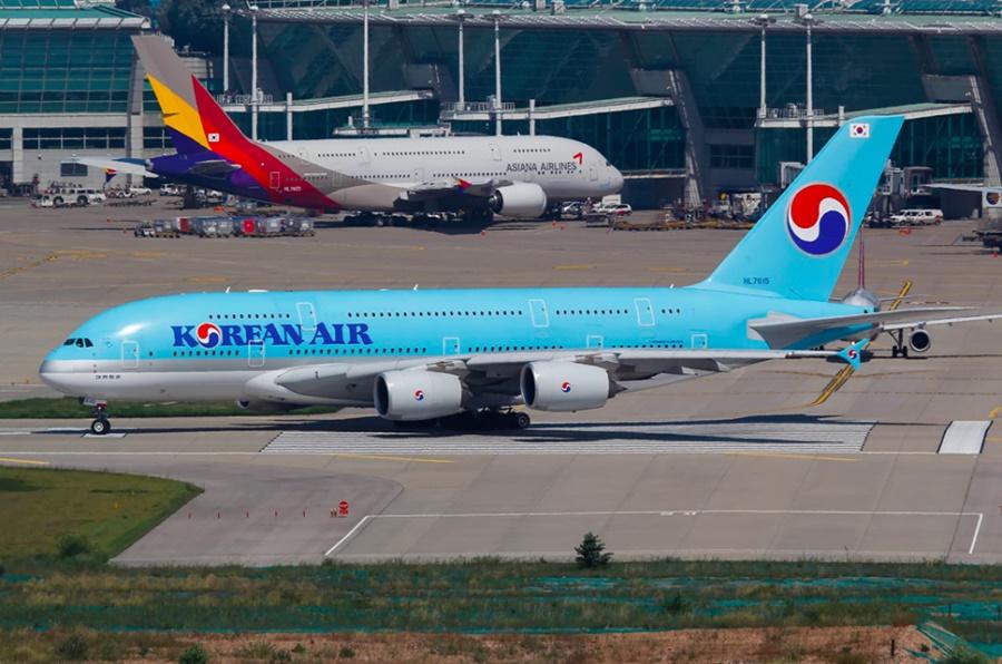 Noticias de aerolíneas. Noticias de aviones. Noticias de turismo. Airbus A380 de Asiana y Korean Air