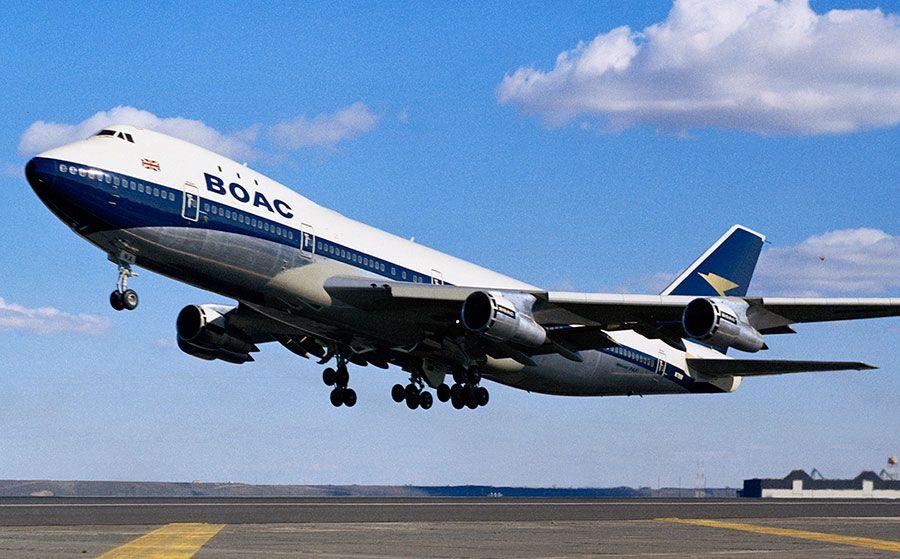 Noticias de aerolíneas. Noticias de aviones. Boeing 747-100 de la aerolínea inglesa BOAC