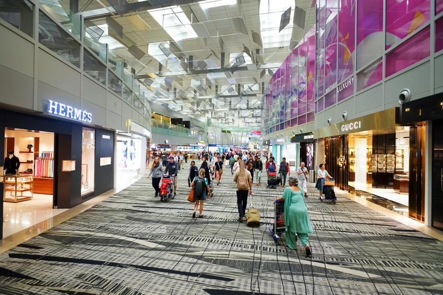 Noticias de aeropuertos. Noticias de aerolíneas. Tiendas en el aeropuerto de Changui, Singapur