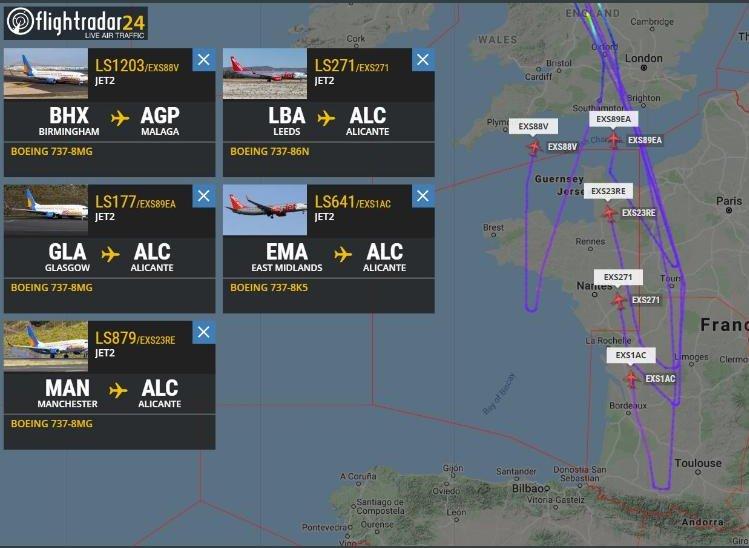 Noticias de turismo. Aviones de Jet2 regresan en pleno vuelo al Reino Unido