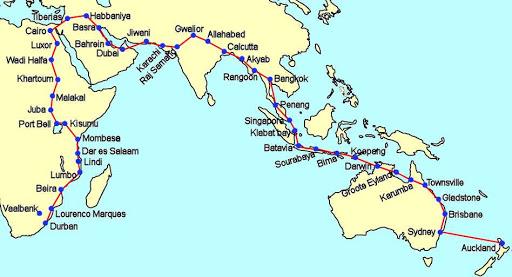 Noticias de aerolíneas. Noticias de aviones. Mapa correspondiente a la ruta de la herradura