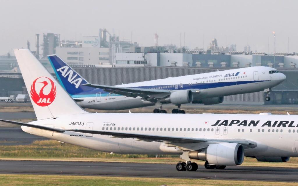 Noticias de aerolíneas. Noticias de compañías aéreas. Noticias de turismo. Aviones de las aerolíneas japonesas JAL y ANA