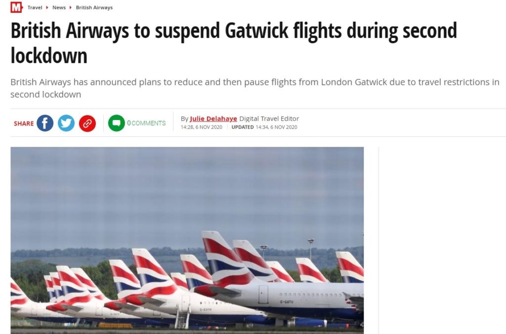 Noticias de aerolíneas. Noticias de turismo. Artículo del diario The Mirror