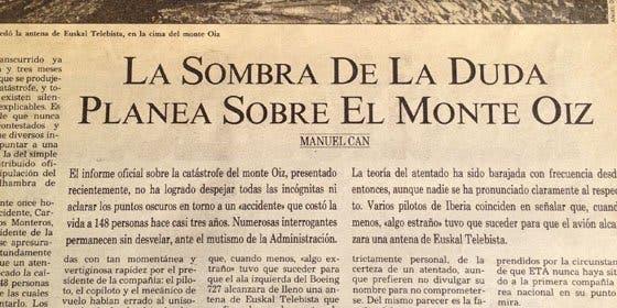 Noticias de aerolíneas. Noticias de aviones. Artículo sobre accidente de Iberia en Bilbao