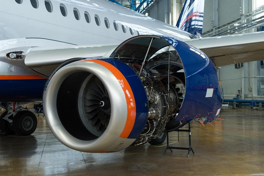 Noticias de aviones. Noticias de aerolíneas. Motor del Sukhoi Superjet 100