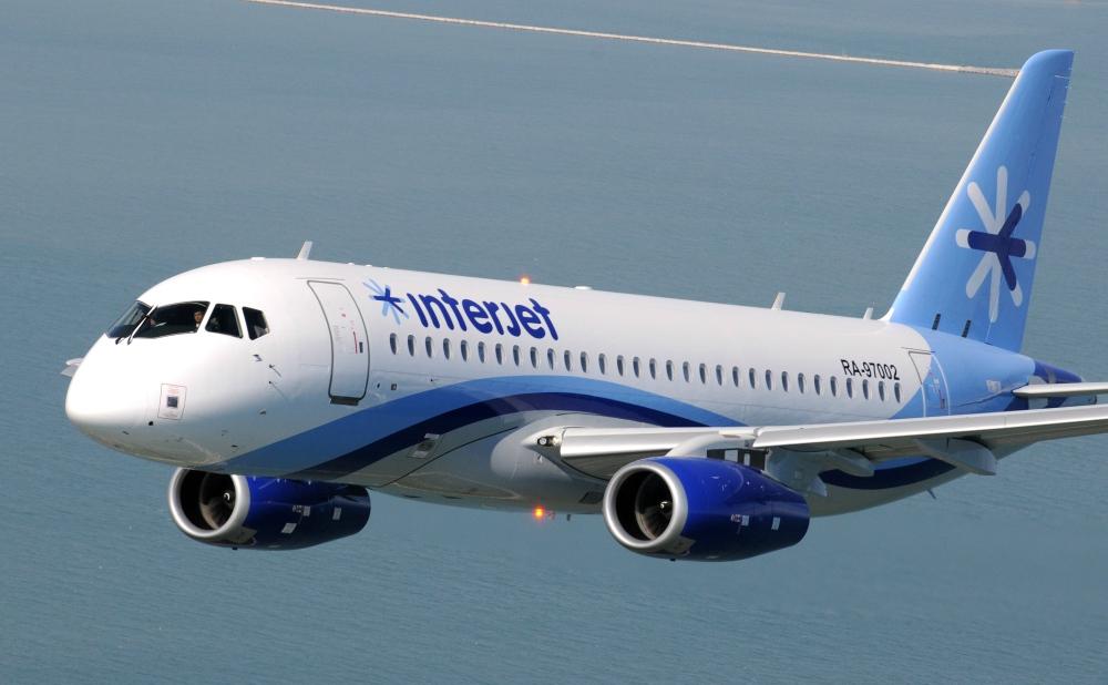 Noticias de aviones. Noticias de aerolíneas. Sukhoi Superjet 100 de la compañía mexicana Interjet