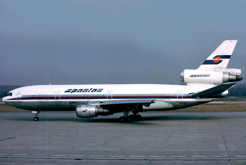 Noticias de aerolíneas. Noticias de aviones. DC-10 de Spantax
