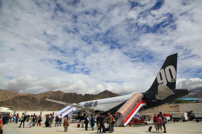 Noticias de aviones. Noticias de aeropuertos. Noticias de aerolíneas. Kushok Bakula Rimpochee Airport en India