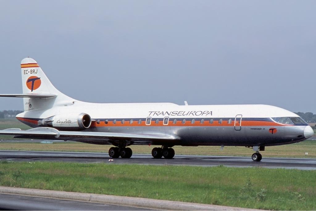 Noticias de aerolíneas. Noticias de aviones. Aparato de la aerolínea Transeuropa