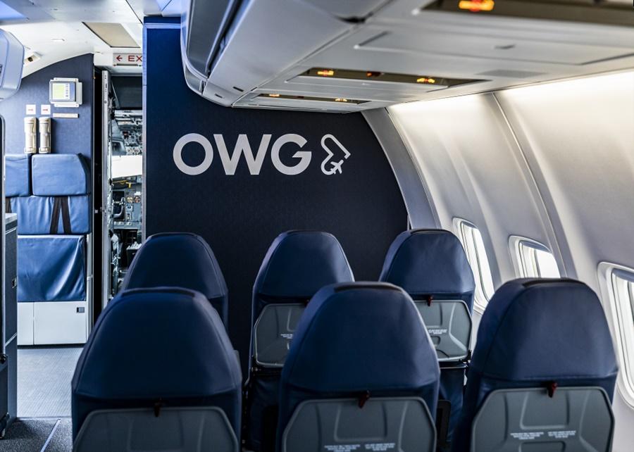 Noticias de aerolíneas. Noticias de compañías aéreas. Interior de la cabina de un avión de OWG
