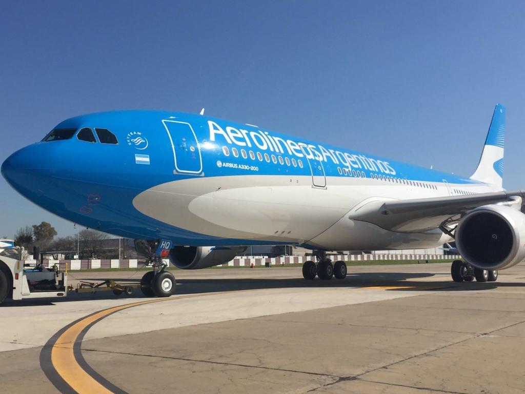 Noticias de aerolíneas. Noticias de compañías aéreas. Airbus A330 de Aerolíneas Argentinas