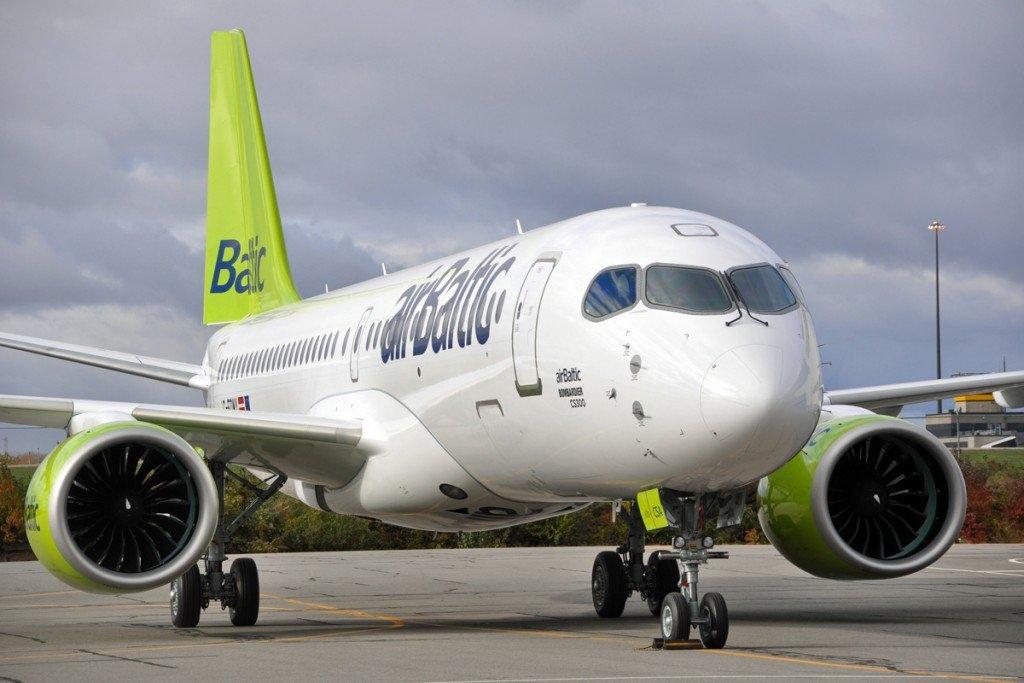 Noticias de aerolíneas. Noticias de compañías aéreas. Airbus A220 de Air Baltic.