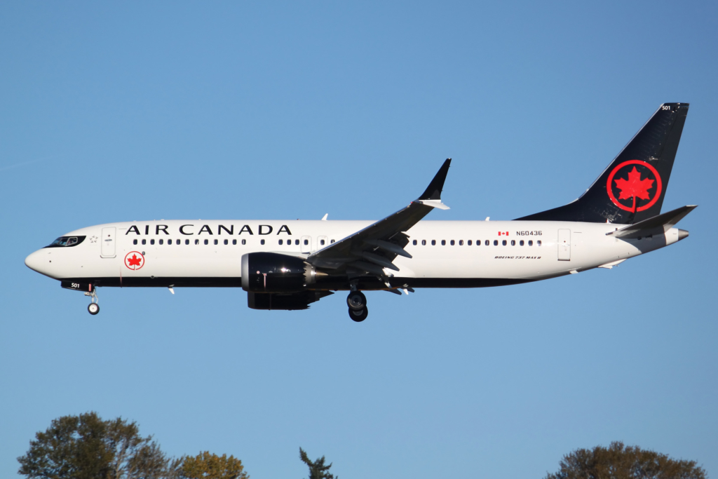 Noticias de aviones. Noticias de aerolíneas. Boeing 737MAX de Air Canada