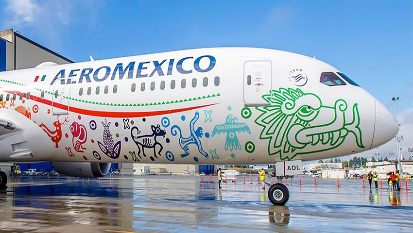 Noticias de aerolíneas. Noticias de compañías aéreas. Avión de la mexicana Aeromexico