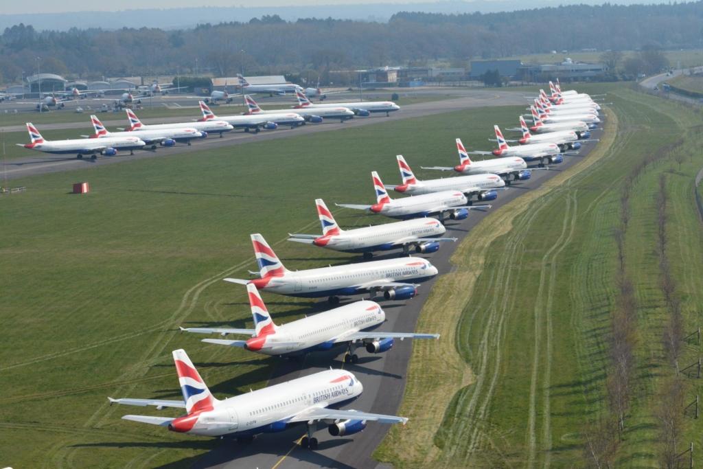 Noticias de aerolíneas. Noticias de compañías aéreas. Aviones de British Airways aparcados permanentemente.