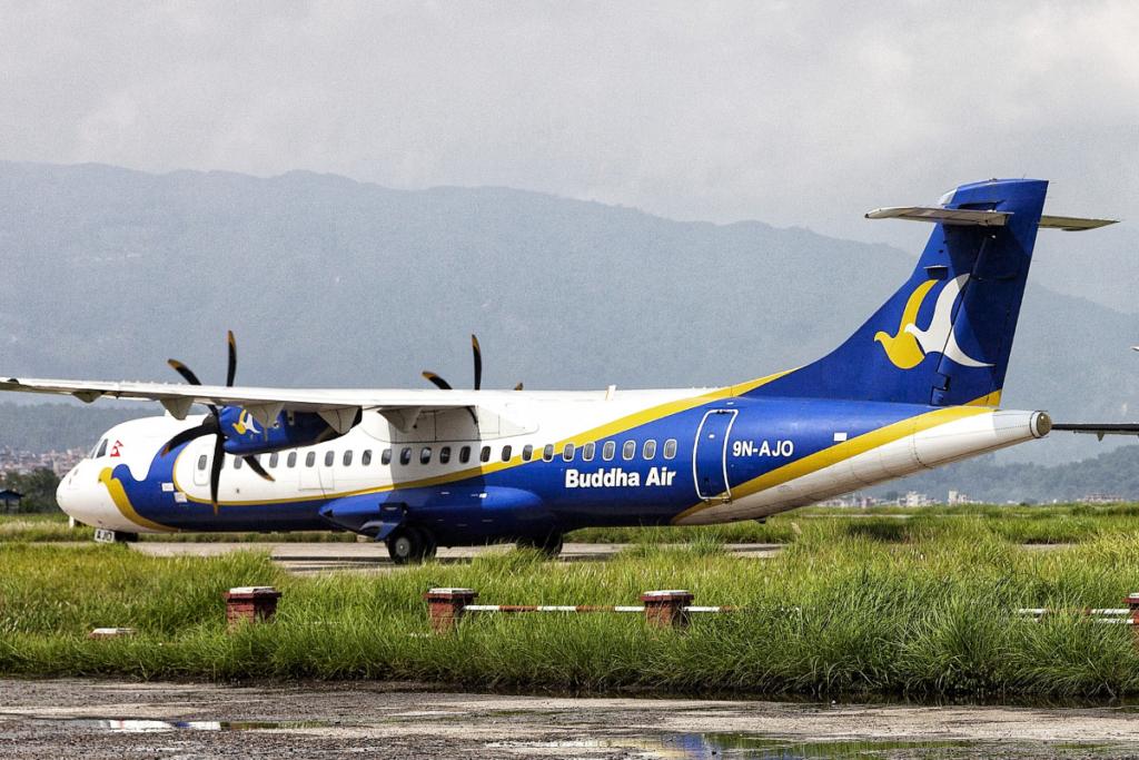 Noticias de aviación. Noticias de aerolíneas. Noticias de aviones. ATR 42/42 de Buddha Air