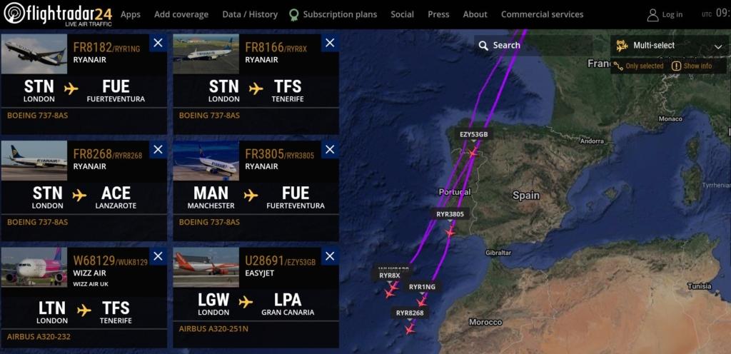 Noticias de turismo. Noticias de aviones. Vuelos desde el Reino Unido hacia las Islas Canarias