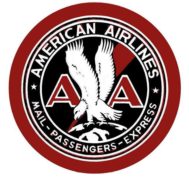 Noticias de aerolíneas. Noticias de compañías aéreas. Logo de American Airlines versión de 1934