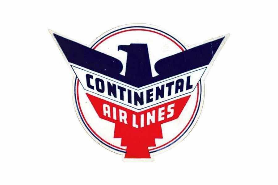 Noticias de aerolíneas. Noticias de compañías aéreas. Logo de Continental versión de 1937