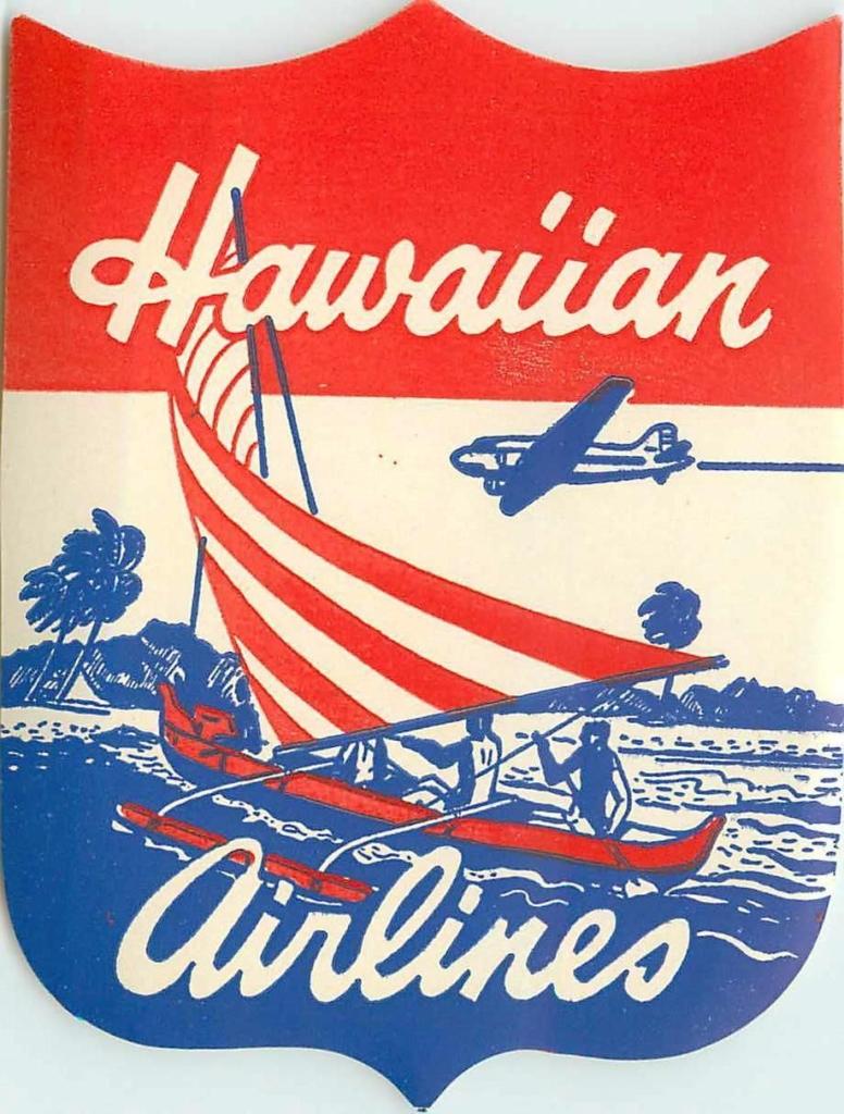 Noticias de aerolíneas. Noticias de compañías aéreas. Noticias de aviación. Logo de Hawaiian versión 1940