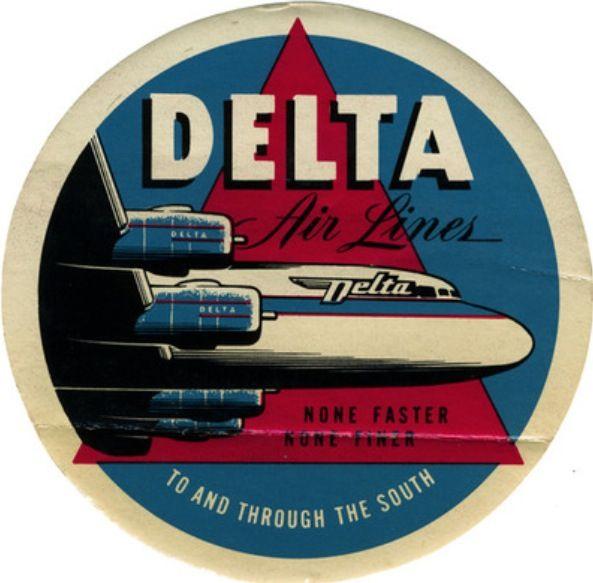Noticias de aerolíneas. Noticias de compañías aéreas. Logo de Delta versión 1940