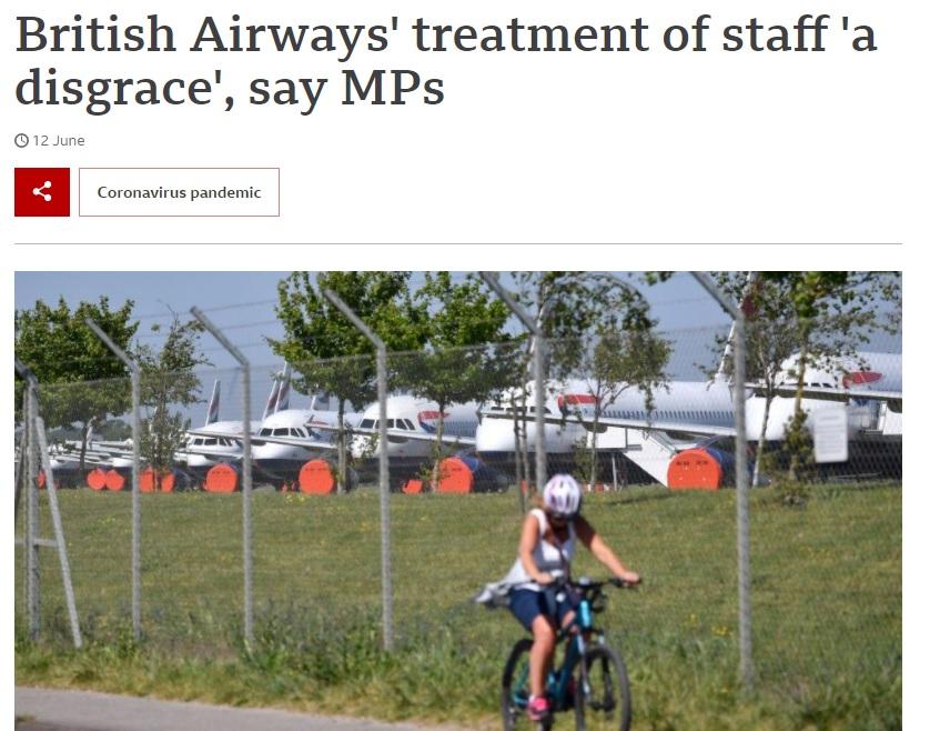 Noticias de aerolíneas. Noticias de compañías aéreas. Artículo de la BBC sobre British Airways