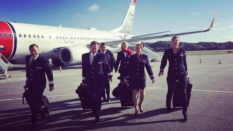 Noticias de aerolíneas. Noticias de compañías aéreas. Empleados de la compañía Norwegian