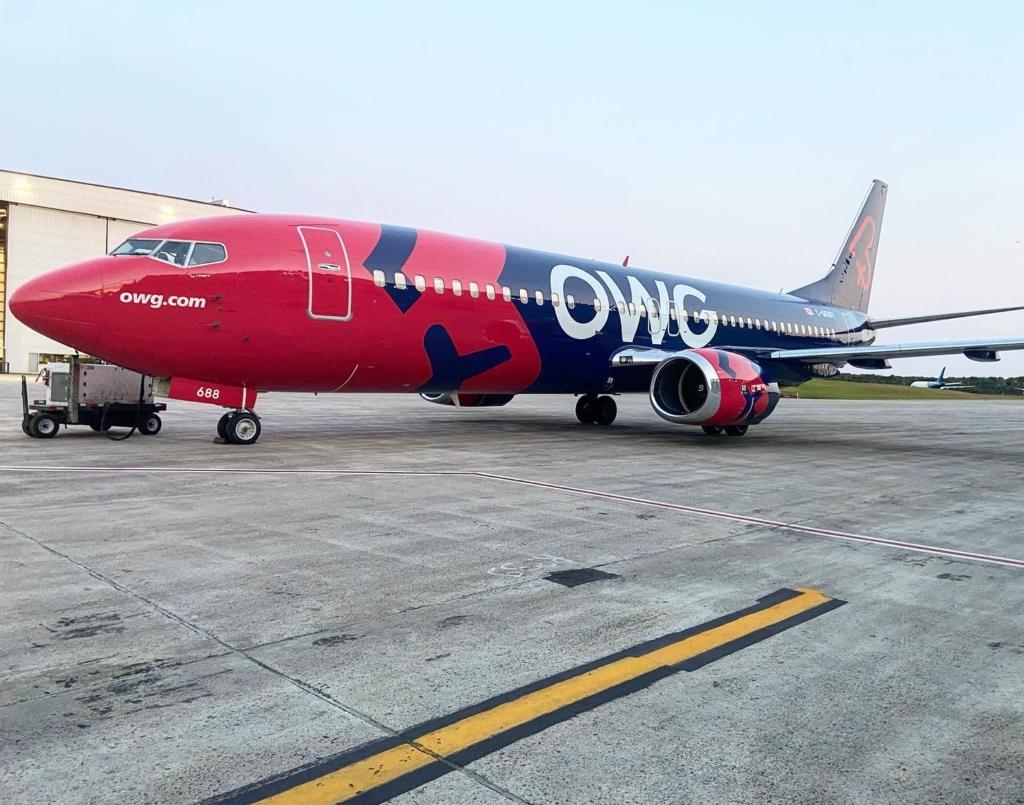 Noticias de aerolíneas. Noticias de compañías aéreas. Boeing 737 de la compañía canadiense OWG