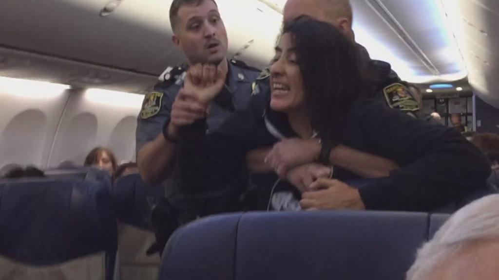 Noticias de aviación. Noticias de aviones. Pasajera conflictiva en un vuelo.