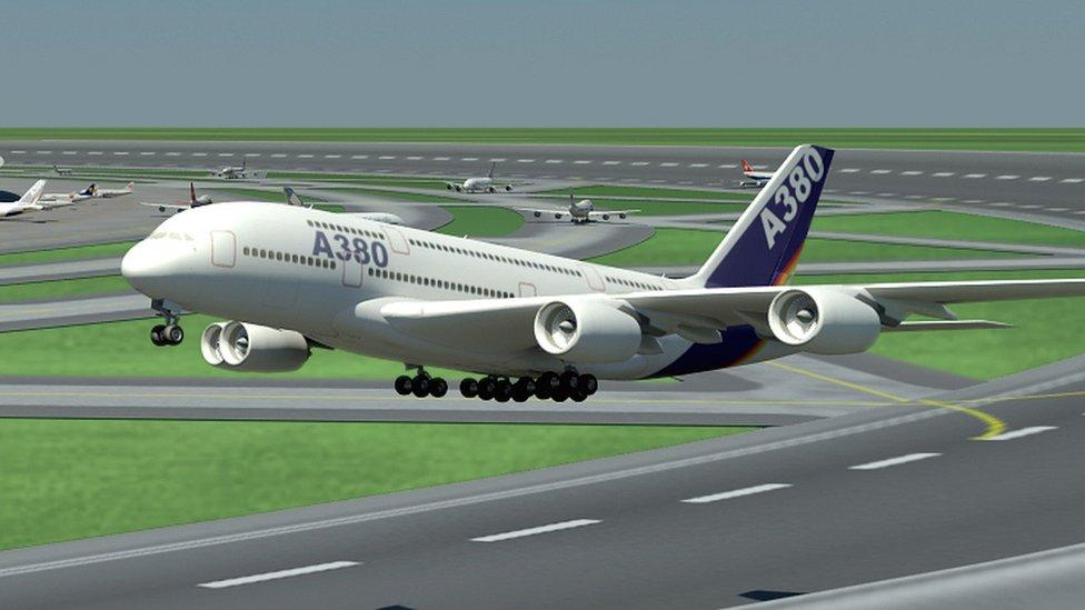 Noticias de aviación. Noticias de aviones. Despegando desde una pista en forma de círculo