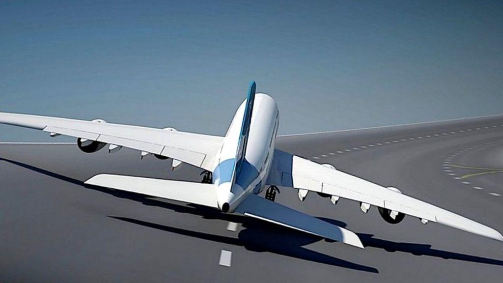 Noticias de aviación. Noticias de aviones.. Inclinación de la pista de despegue en forma de círculo.
