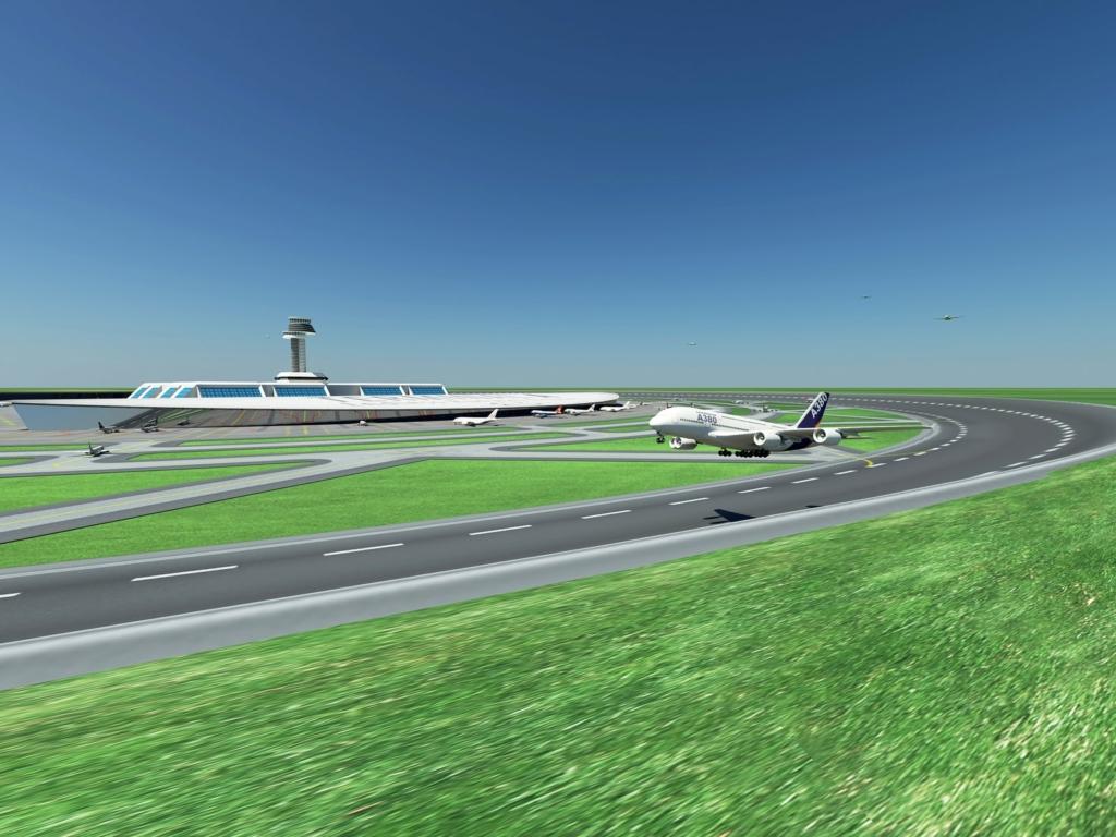 Noticias de aviación. Noticias de aviones. Pista de aterrizaje en forma de círculo.