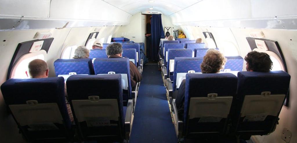 Noticias de aerolíneas. Noticias de aviones. Interior cabina Convair de Air Chathams