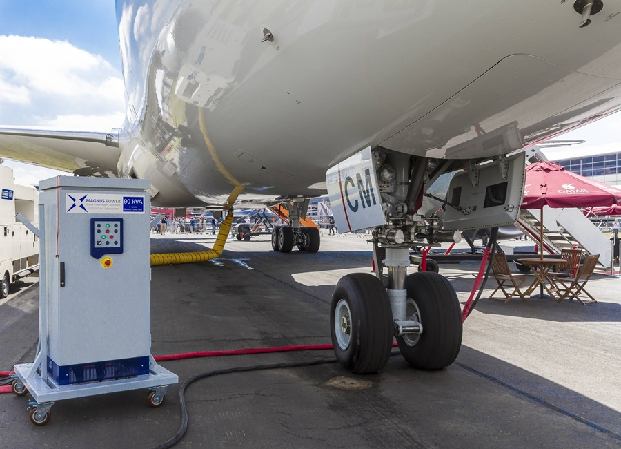 Noticias de aviones. Noticias de aeropuertos. GPU móvil en un aeropuerto