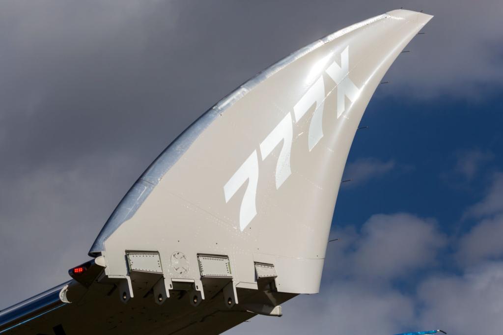 Noticias de aviones. Noticias de aviación. Winglets retráctiles en el Boeing 777X