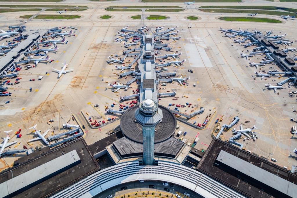 Noticias de aeropuertos. Vista aérea del aeropuerto Chicago O´Hare