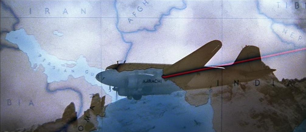 Noticias de aviación. Noticias de aviones. Ruta que sigue el DC-3 en la película de Indiana Jones