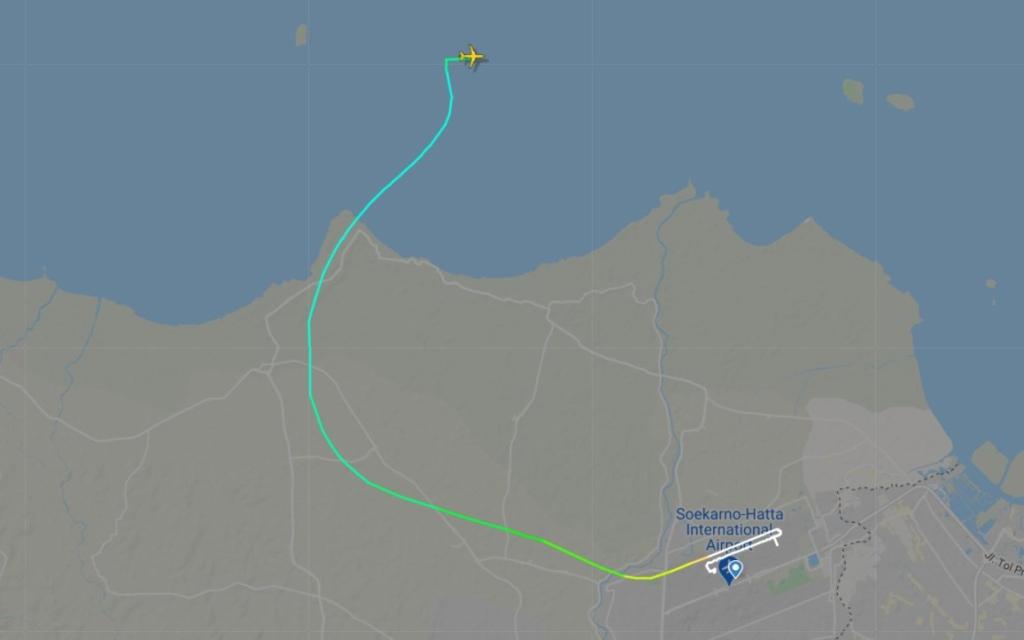 Noticias de aerolíneas. Noticias de aviación. Ruta seguida por el avión siniestrado de Sriwijaya Air