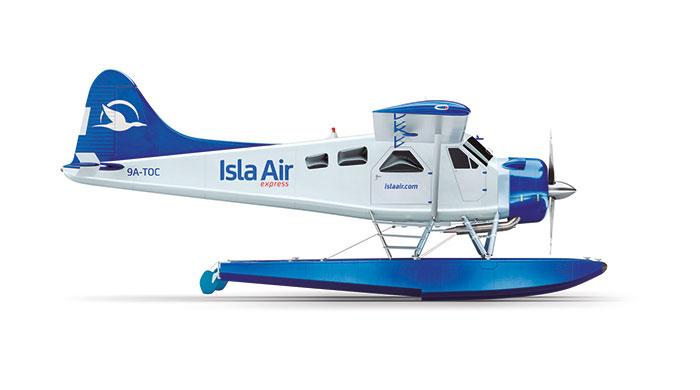 Noticias de aerolíneas. Noticias de compañías aéreas. Hidroavión de Isla Air