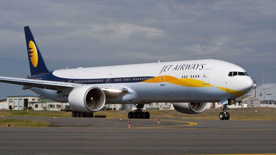 Noticias de aviones. Noticias de aerolíneas. Avión de la aerolínea inglesa Jet Airways