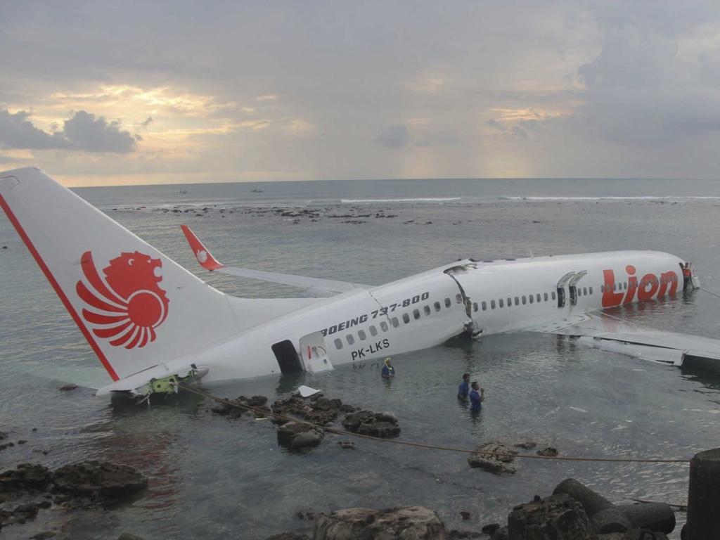 Noticias de aviones. Noticias de compañías aéreas. Accidente de avión de la aerolínea Lion Air