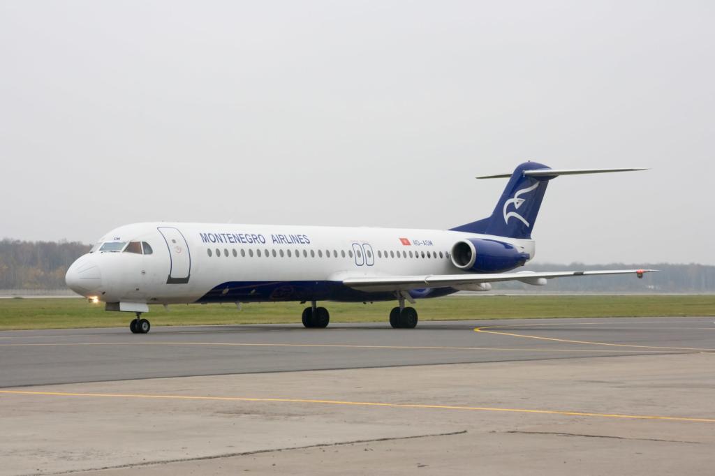 Noticias de aerolíneas. Noticias de compañías aéreas. Avión de Montenegro Airlines.