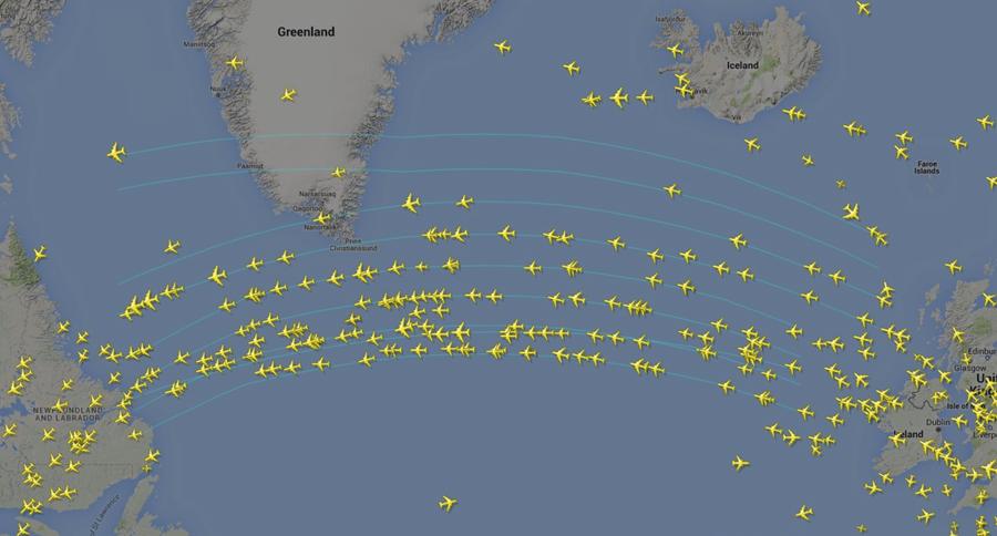 Noticias de aviones. Noticias de aviación. Rutas entre Europa y Norteamérica